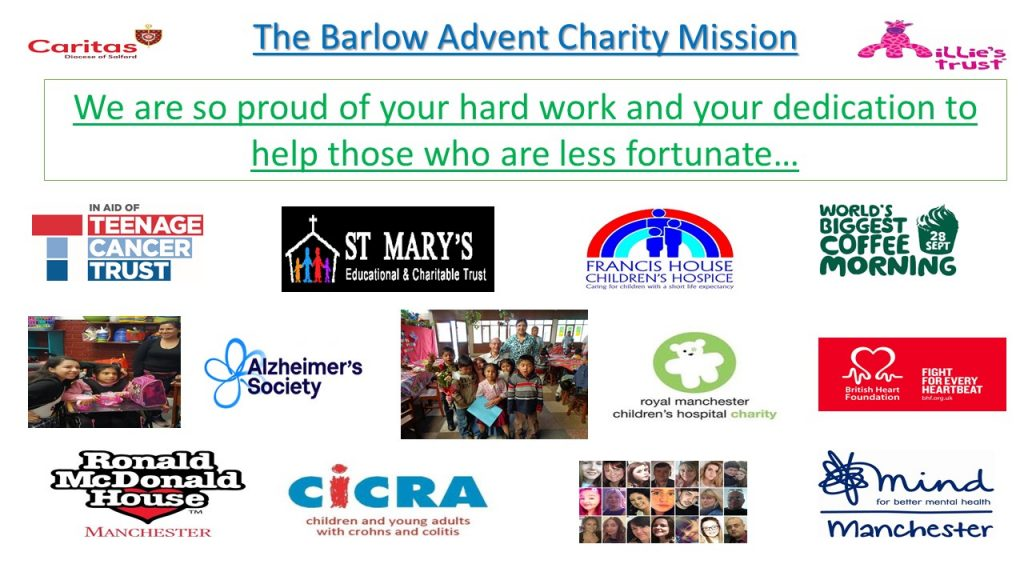 The Barlow Advent Charity Mission…