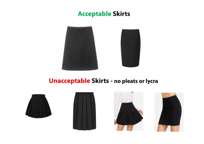 Acceptable & unacceptable skirts2